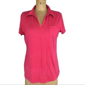 Columbia Hot Pink Collared T-Shirt Size XL
